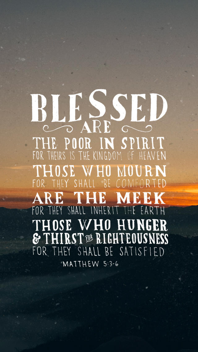 Spiritual Quotes For Laptop Wallpaper Matthew 5 3 6 The Verses Project