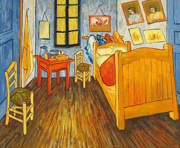 you can rent vincent van gogh's painting 'the bedroom' on airbnb