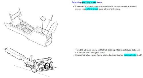 small resolution of hand brake fix and adjust diy v70 1998