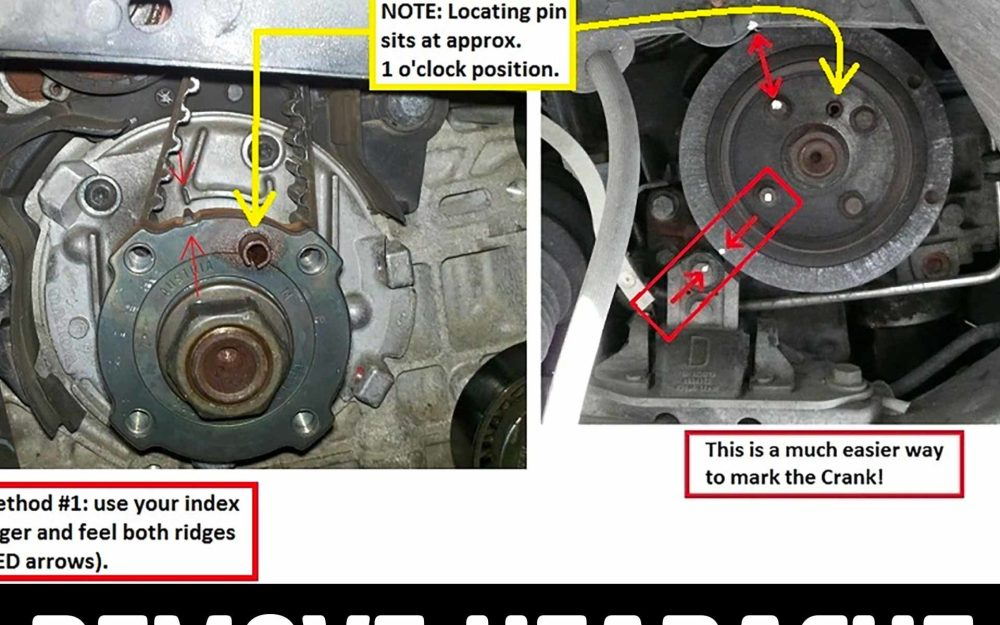 medium resolution of crank marks the easy way to line them up for timing belt
