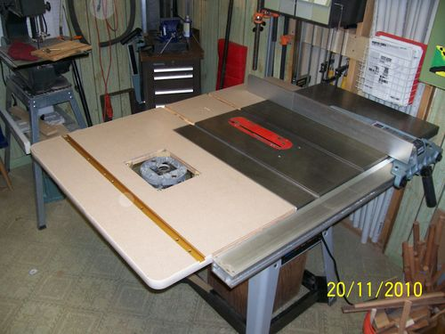 Router Table Extension For Delta Table Saw