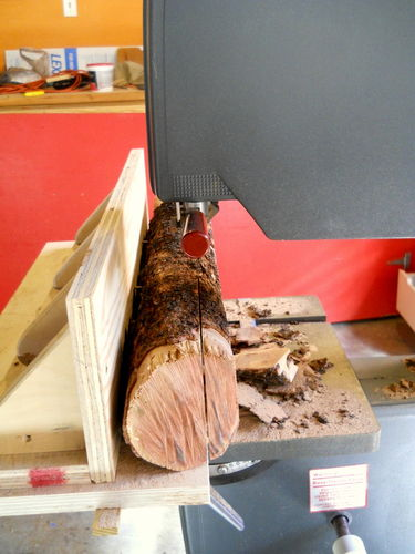 Cutting Veneer With Bandsaw