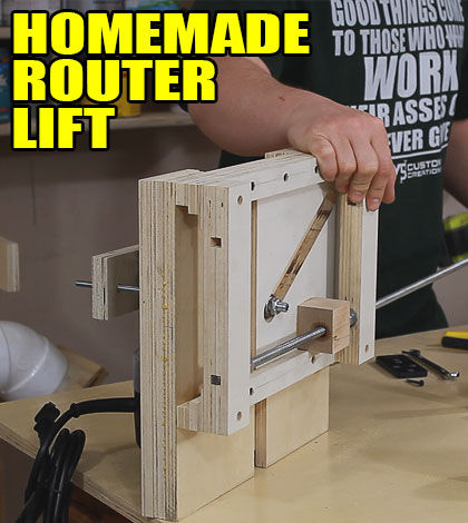 Diy Router Lift Youtube