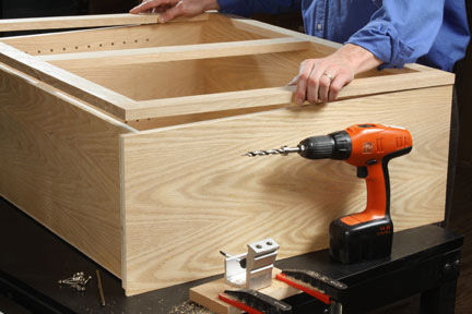 Attach Face Frame To Cabinet Box