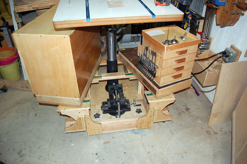 DRILL PRESS MOBILE BASE AND CABINETS