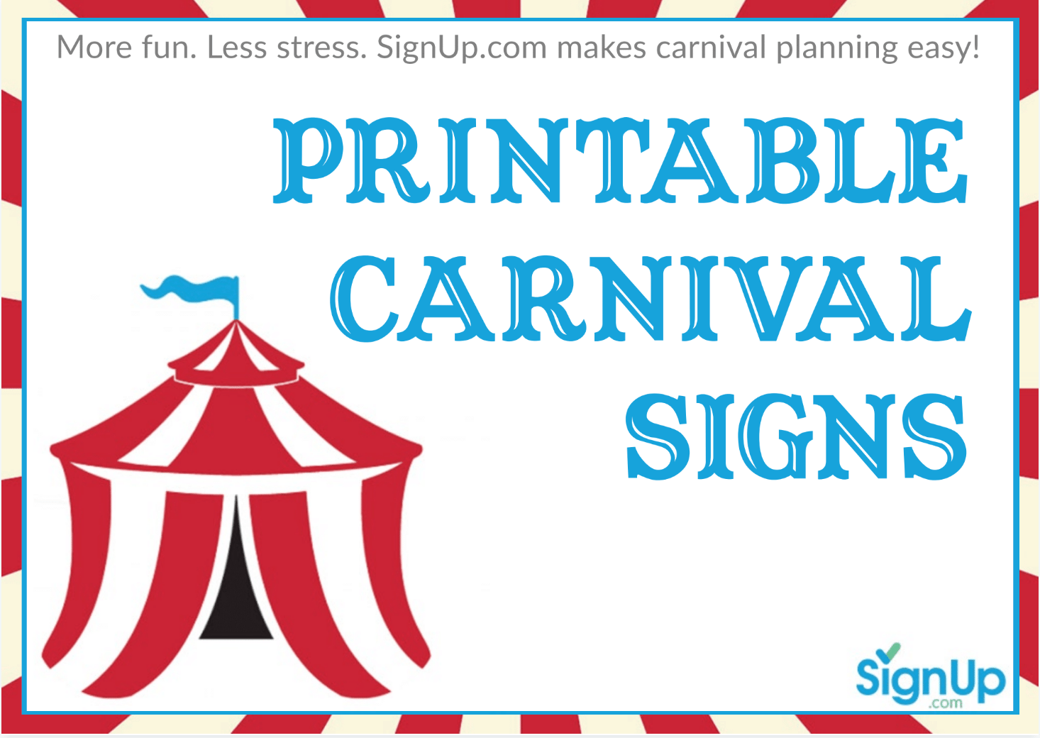 picture relating to Printable Carnival Signs identify 98+ August 22nd 2014 Cost-free Byron Carnival. Casa Birthday