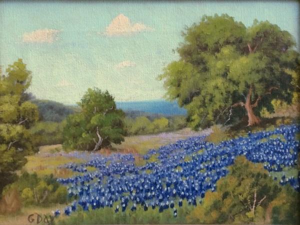 """Robert Wood . Day - """"bluebonnet"""" #1585 Texas Art"""