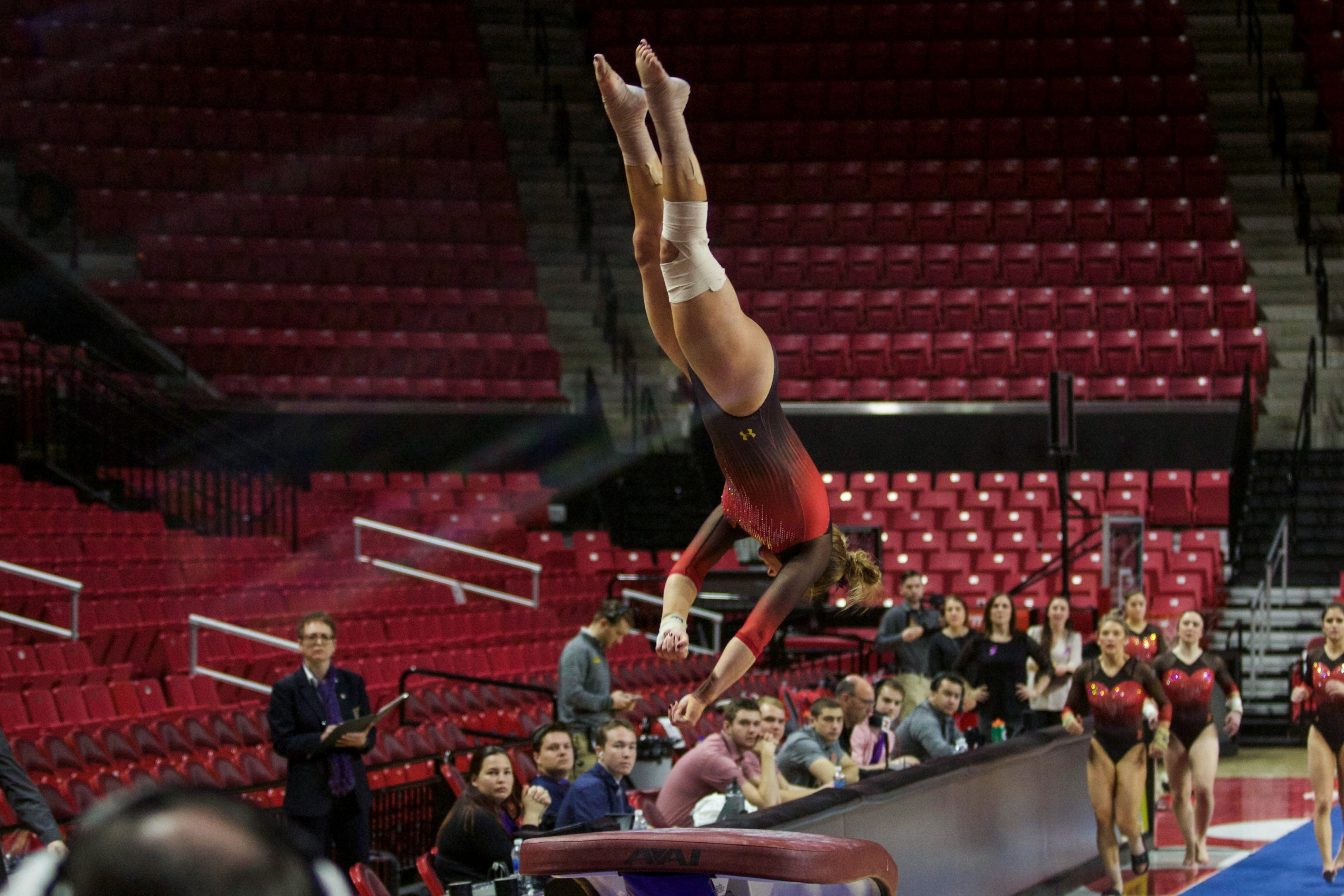 Maryland gymnastics tallied a seasonhigh score but fell