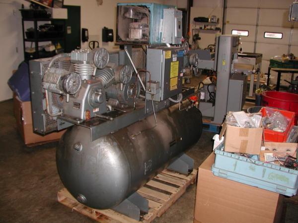 Lot #59 Curtis-toledo Es-100 7.5 Hp Dual Air Compressor