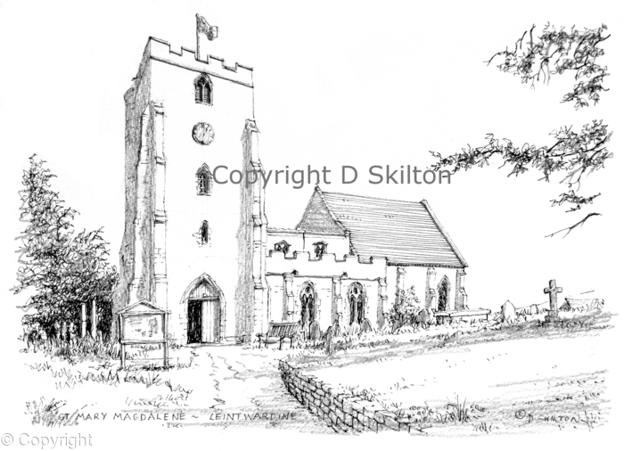 churches of Shropshire artwork watercolour and pen drawings