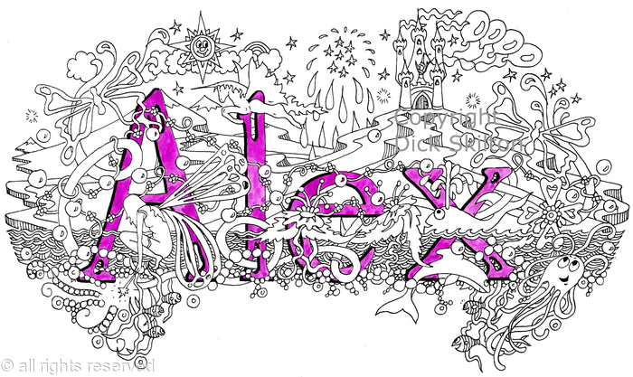 Alex Girls Name Name Art Design As A Greeting Card Prints Available Printed On White Card With Envelope