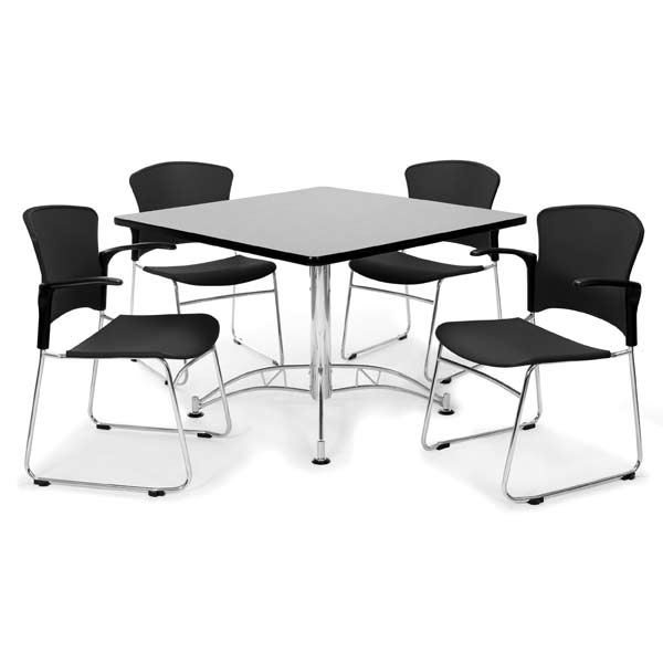 Ofm Breakroom Table 36 Square Or Round W Four Plastic