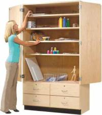 Shain Tall Storage Cabinet W/ Drawers - Gsc-8 | Drafting ...