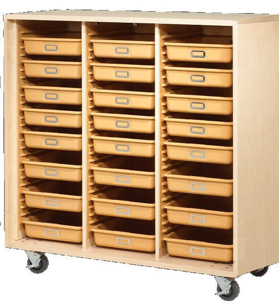 All Mobile Tote Tray Storage Cabinet By Shain Options