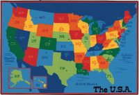 Carpets For Kids Usa Map Value Rug - 4' X 6' - 48.95 ...