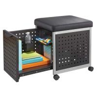 Safco Products Scoot Mobile File Cabinet With Cushion Seat ...