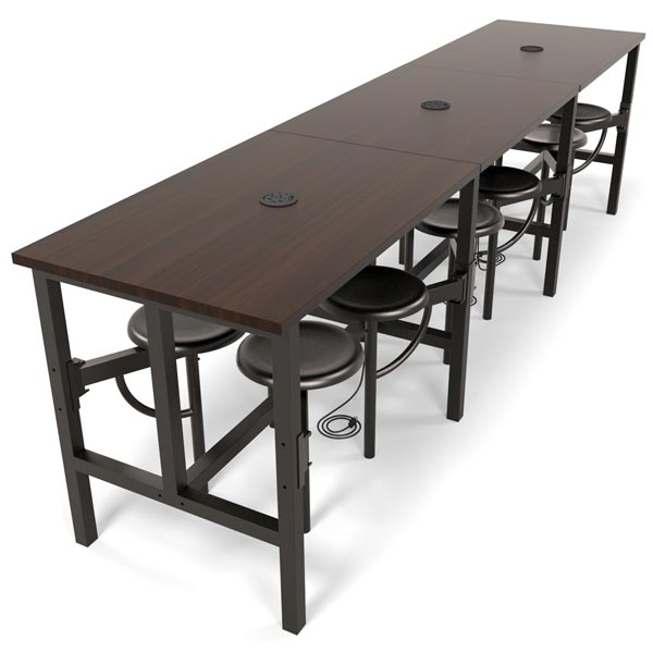Ofm Endure Standing Height Table With 12 Seats 9012
