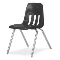 "Virco 9000 Series School Chair- Black (18"" H) - 9018 ..."