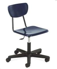 Virco 3000 Series Hard Plastic Chair With Wheels - 3860gc ...