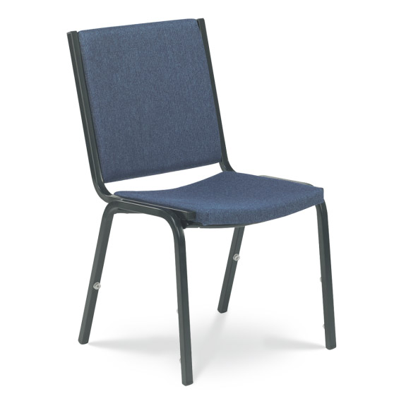 Virco Comfort Stacker Chair WOut Arms  8802  Padded Stack Chairs  Worthington Direct