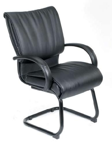 Boss Black Leatherplus Guest Chair  B9709  Guest Chairs