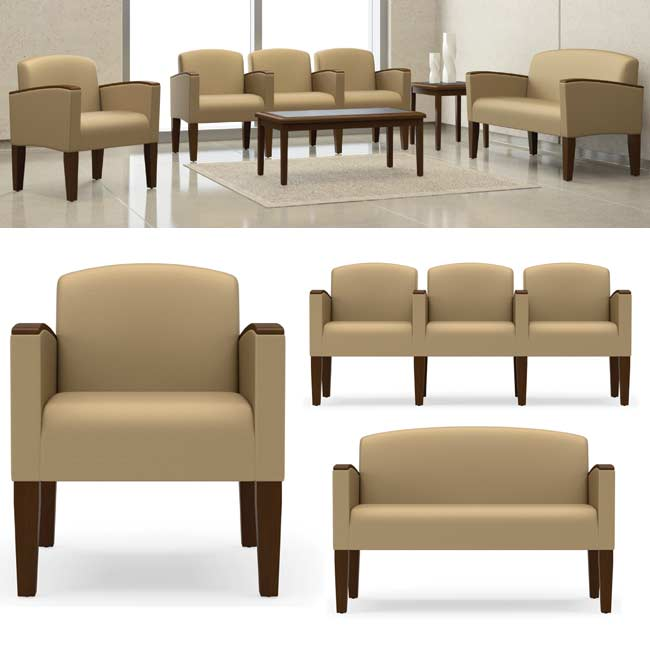 All Belmont Series Reception Seating By Lesro Options