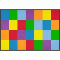 "Learning Carpets Colorful Grid Carpet (5'-10"" X 8'-5 ..."