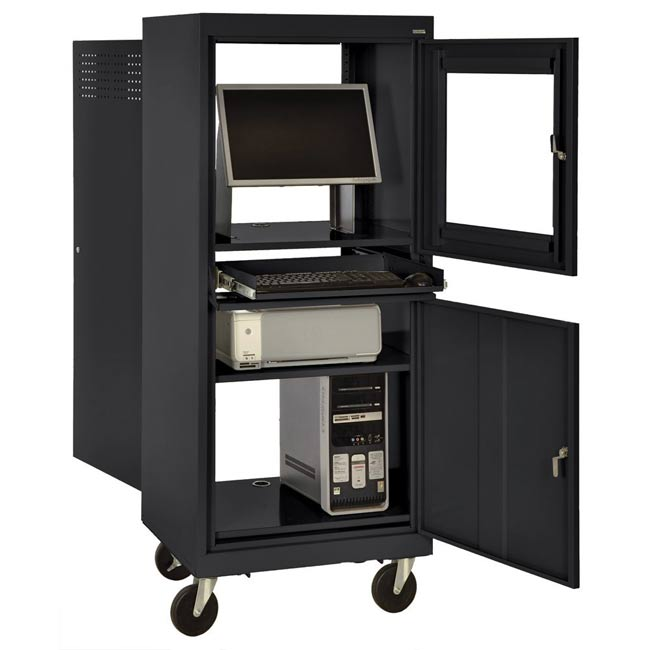 All Mobile Computer Security Cabinet By Sandusky Lee