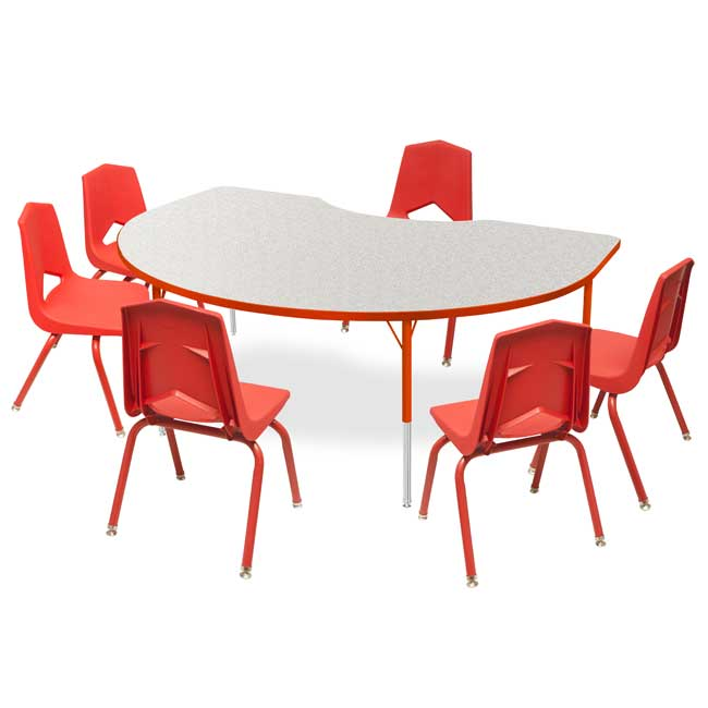 All Youth Kidney Activity Table  6 Chair Package Set By