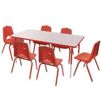"""Marco Group One Youth 24"""" X 48"""" Rectangle Activity Table ..."""