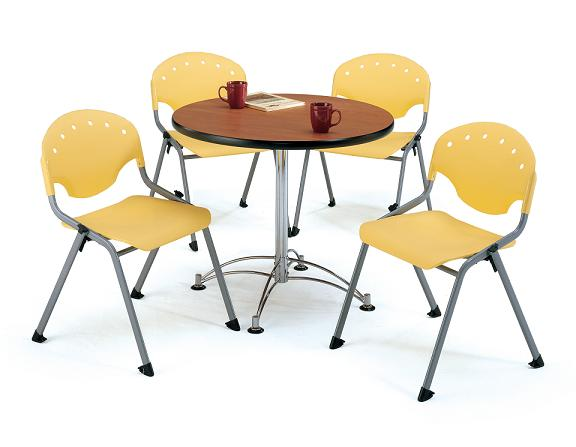 All Breakroom Table  Four Rico Chairs By Ofm Options