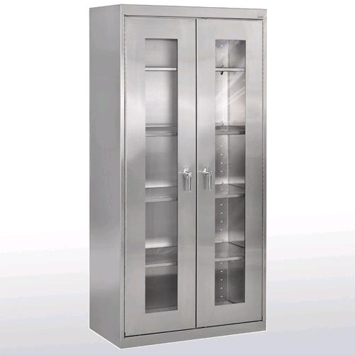 Sandusky Lee Stainless Steel Clear View Storage Cabinet