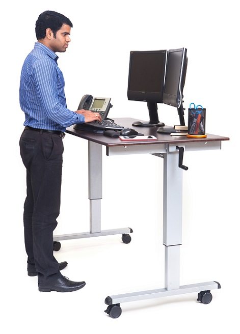 Luxor Crank Adjustable Stand Up Desk 60 W  Standup