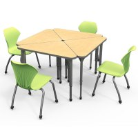 Marco Group Classroom Set- 20 Apex Triangle Student Desks ...