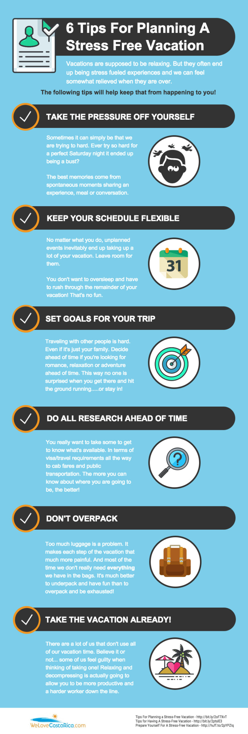 6 Tips For Planning A Stress Free Vacation