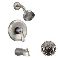Rainfall Shower Faucet - Showerhead Tub Spout and Diverter ...