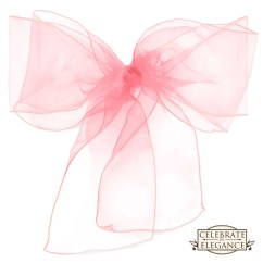Chair Covers With Pink Bows Big Joe Chairs Refill 100 Organza Wedding Cover Bow Sashes Ribbon Tie