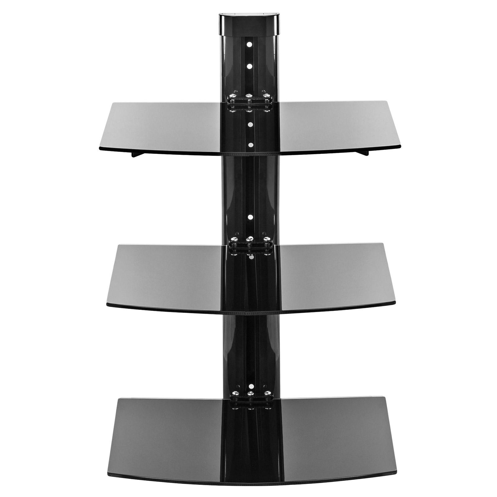 3 Shelf Floating Wall Mount DVD TV Component AV Console
