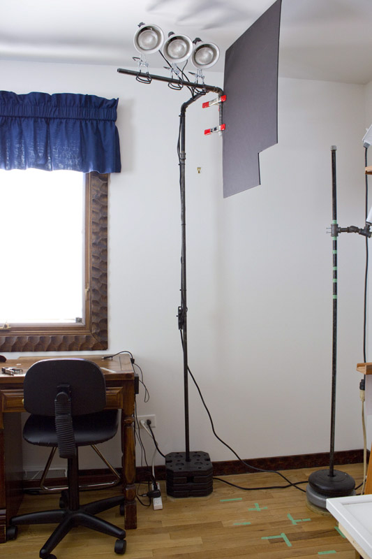diy light stand for lighting a painting