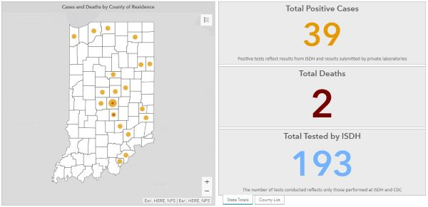ISDH Announces 39 Total Positive COVID-19 Cases in Indiana as of ...