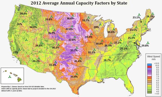 Wind Map Usa Wind - Wind farms in the us map