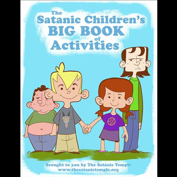 The Satanic Temple asked Orange County Public Schools if it could hand out activity books on campus. Image credit: thesatanictemple.com