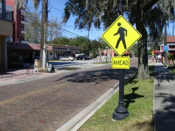 Crosswalk near Lake Eola, Orlando. Photo: Matthew Peddie, WMFE