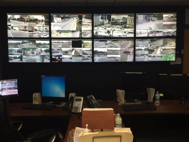 Orlando Police Department camera monitoring room. Photo: University of Central Florida.