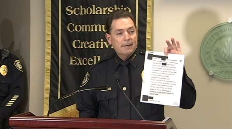 Photo: Screenshot taken from afternoon news conference with UCF police department.