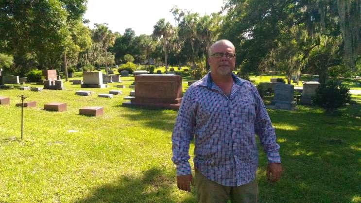 Greenwood Cemetery Sexton, Don Price. Photo- Matthew Peddie, WMFE