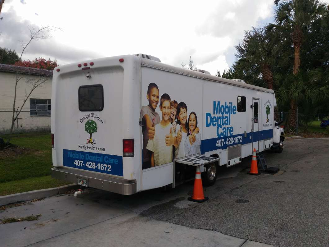 The Orange Blossom Health Center's mobile dental unit. Photo: Matthew Peddie, WMFE