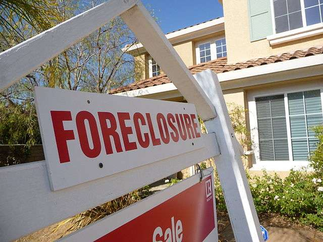 Foreclosure sign. Source: WikiMedia Commons