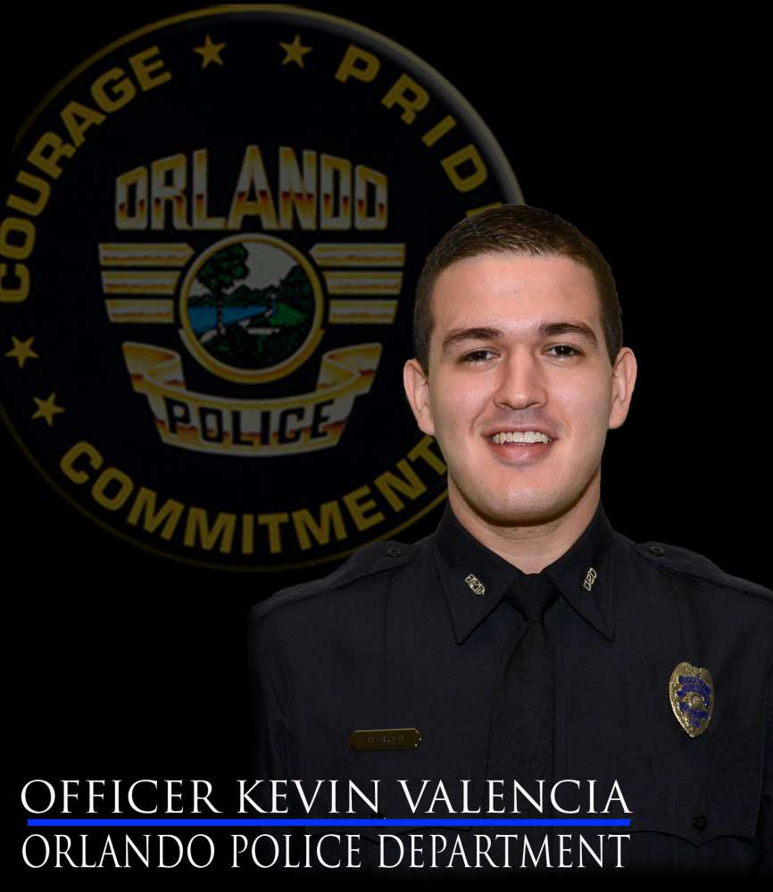 Officer Kevin Valencia is being transferred to a rehab center tomorrow. Photo: Orlando Police Department