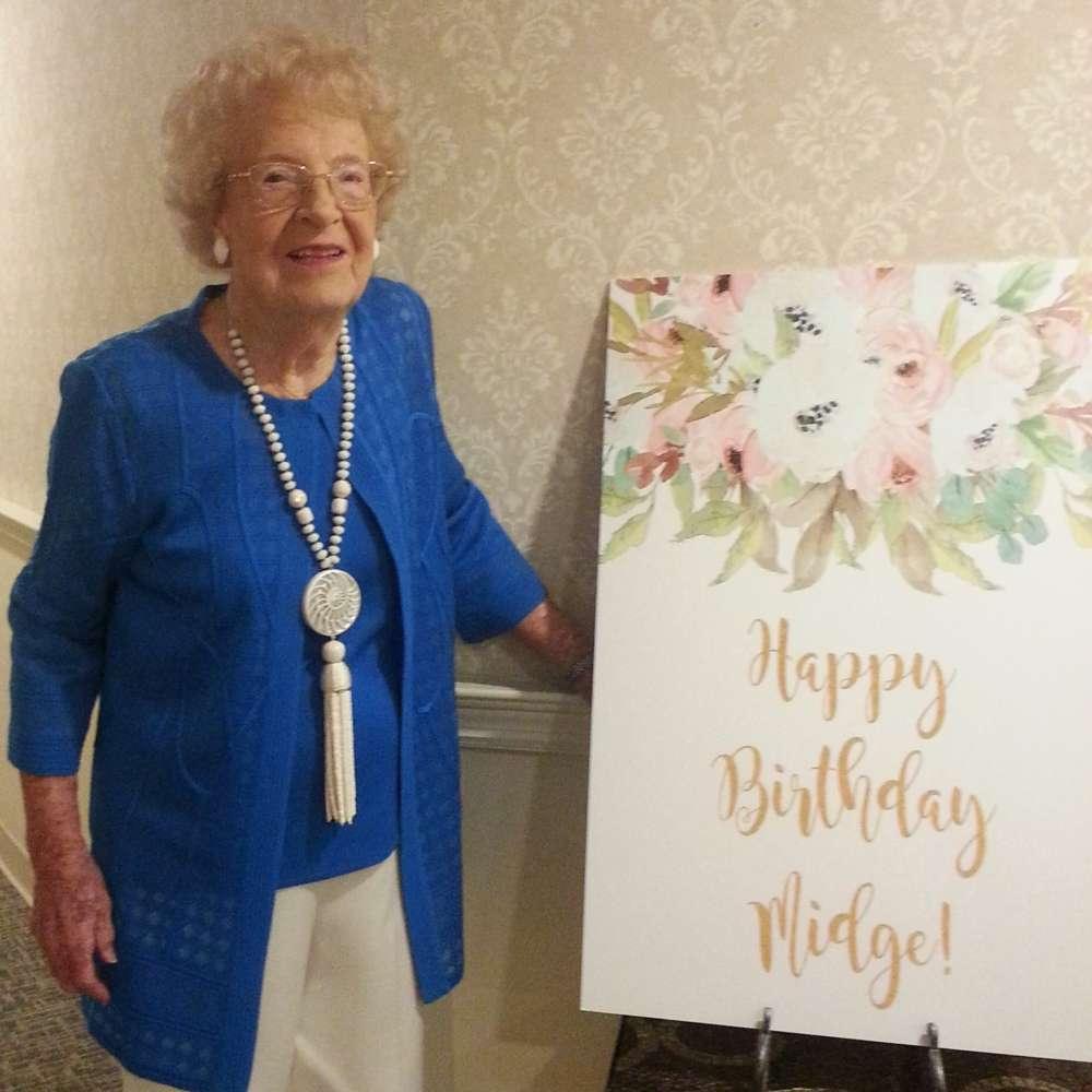 "Winter Park resident Mildred ""Midge"" Ruff recently turned 108. Photo: Mayflower Retirement Community"